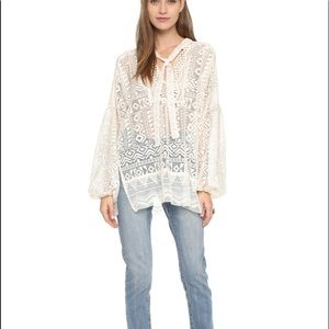 """New Anna Sui """"Folklore"""" Boho Lace Top"""